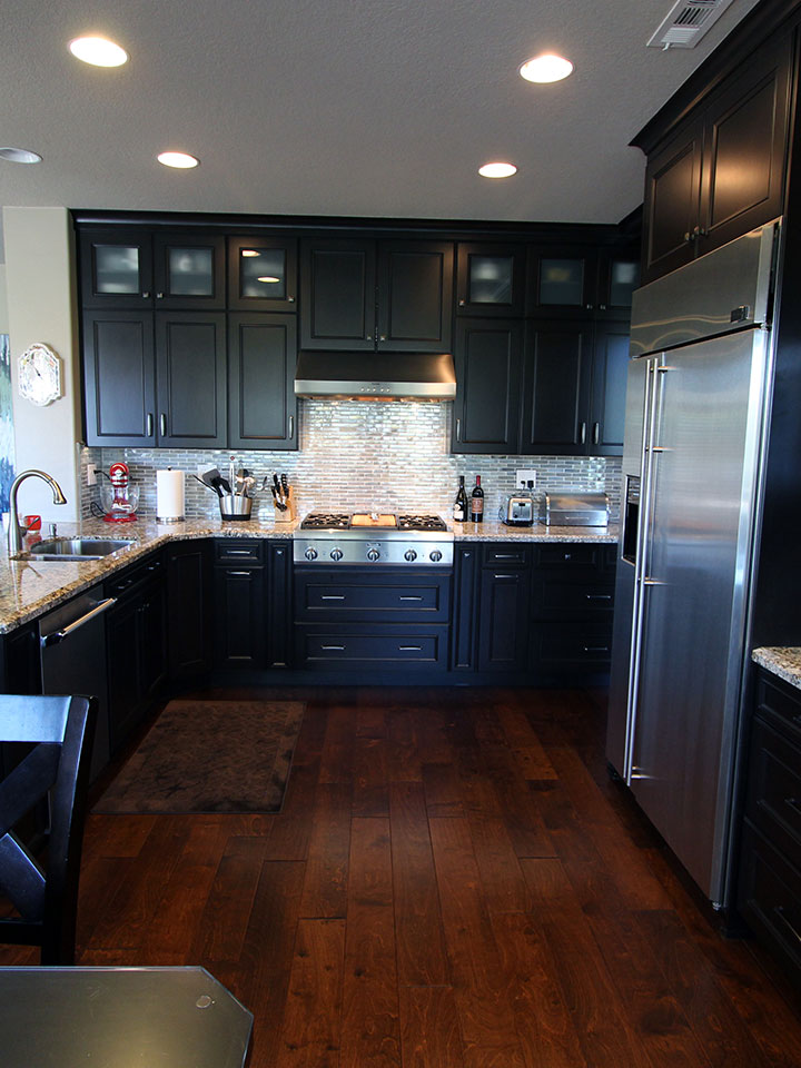 laguna niguel black u shaped transitional kitchen remodel with