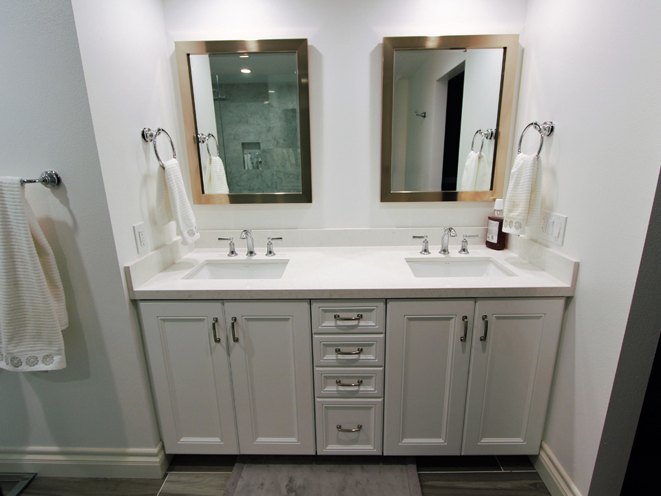 Bathroom Remodel Custom cabinets