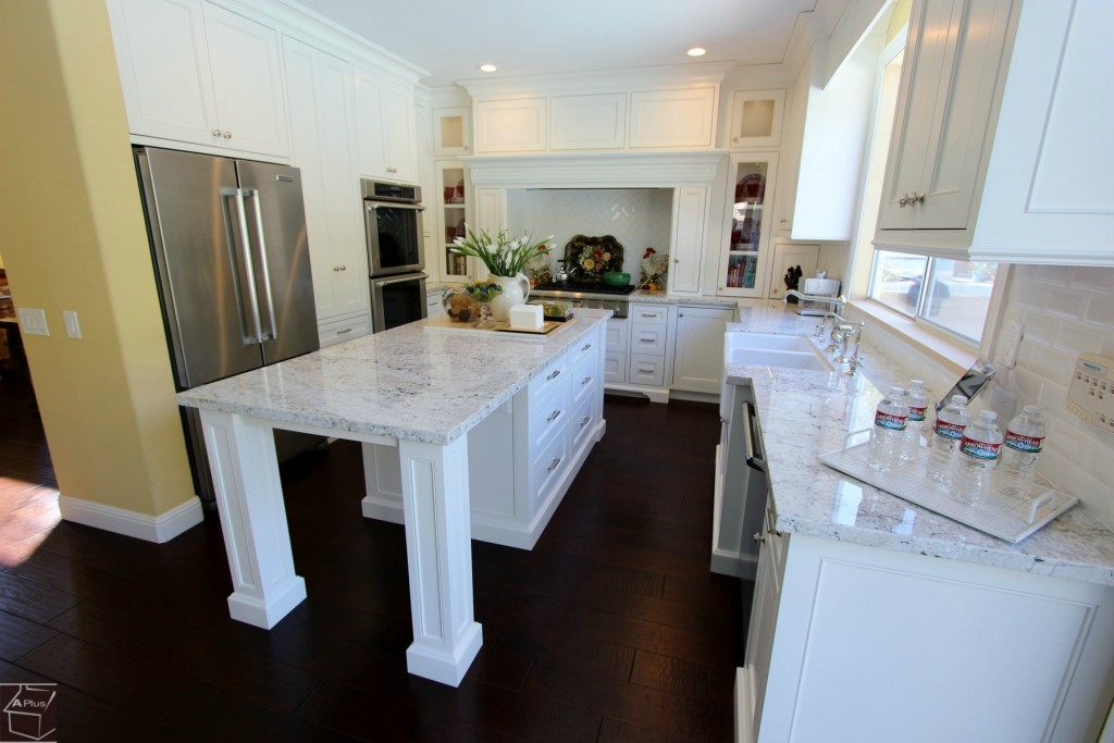 Aliso Viejo White U Shaped Kitchen Remodel With Custom White Cabinets